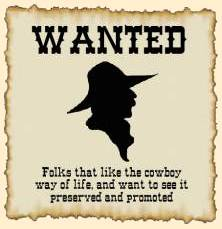 Wanted - BC Cowboy Heritage Society Members