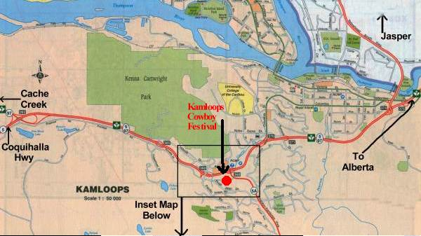 A Map to the Kamloops Cowboy Festival
